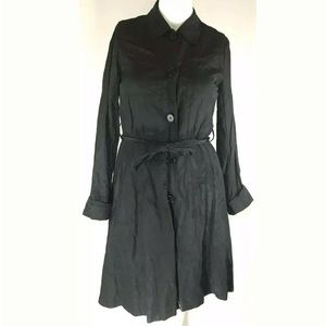THEORY Womans Black Sz Large Rain Coat